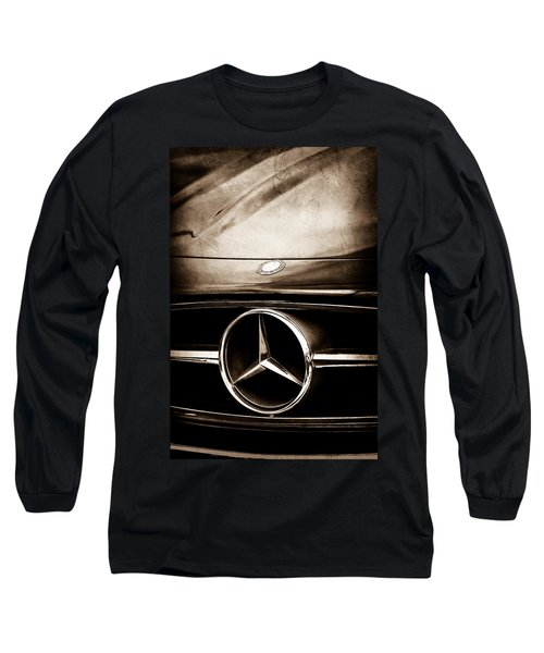 Mercedes-benz Grille Emblem Long Sleeve T-Shirt by Jill Reger