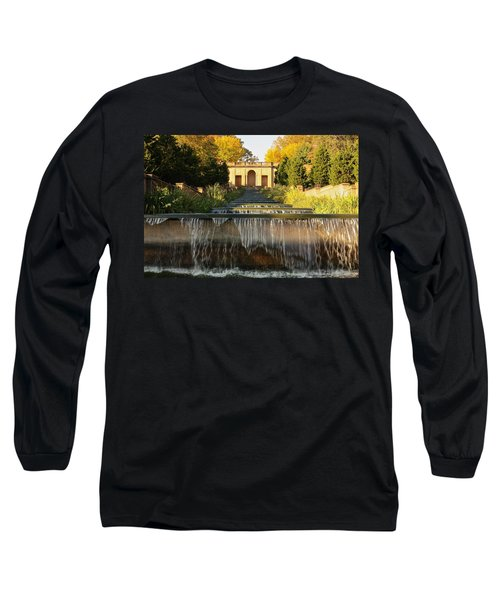 Meridian Hill Park Waterfall Long Sleeve T-Shirt by Stuart Litoff