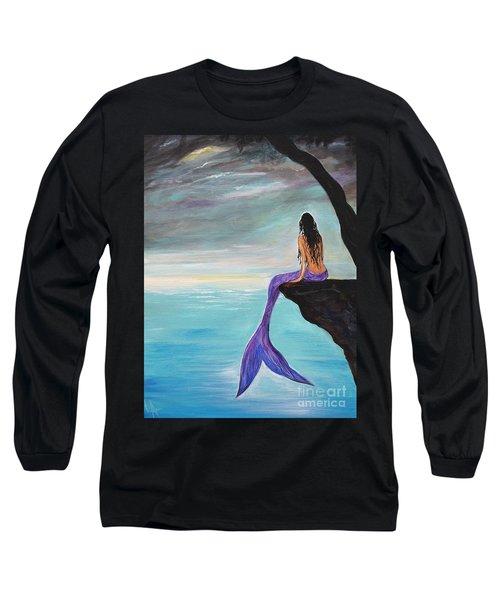 Mermaid Oasis Long Sleeve T-Shirt by Leslie Allen