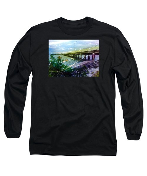 Long Sleeve T-Shirt featuring the digital art Mermaids In Indian River by Megan Dirsa-DuBois