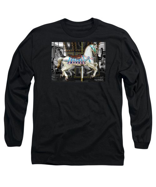 Merry Go Round Long Sleeve T-Shirt by Colleen Kammerer