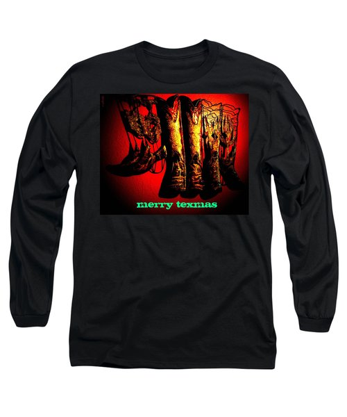 Merry Texmas Long Sleeve T-Shirt by Chris Berry