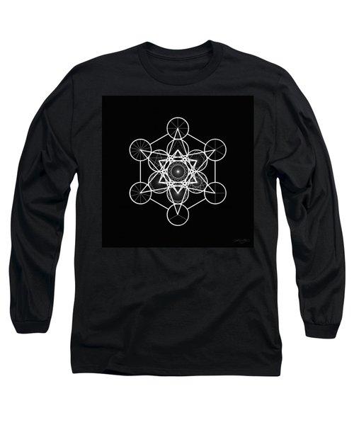 Metatron Wheel Cube Long Sleeve T-Shirt