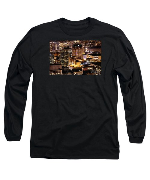 Long Sleeve T-Shirt featuring the photograph Metropolis Vancouver Mdccxv  by Amyn Nasser