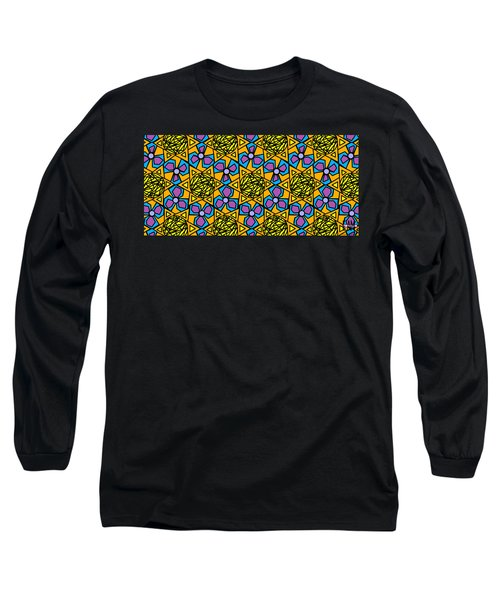 Long Sleeve T-Shirt featuring the digital art Mexican Sun / African Violet by Elizabeth McTaggart