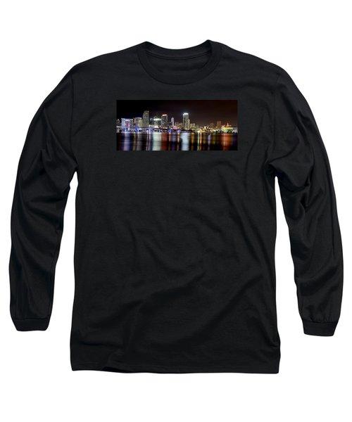 Miami - Florida  Long Sleeve T-Shirt by Brendan Reals