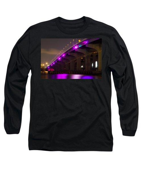Miami Macarthur Causeway Bridge Long Sleeve T-Shirt