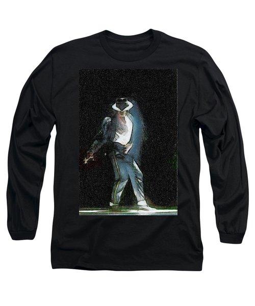 Michael Jackson Long Sleeve T-Shirt by Georgi Dimitrov