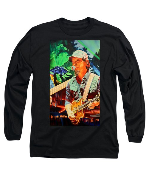 Long Sleeve T-Shirt featuring the painting Michael Kang At Horning's Hideout by Joshua Morton