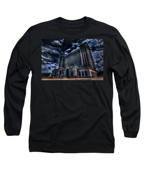 Michigan Central Station Hdr Long Sleeve T-Shirt