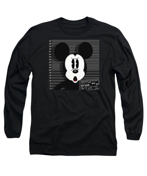 Mickey Mouse Disney Mug Shot Long Sleeve T-Shirt