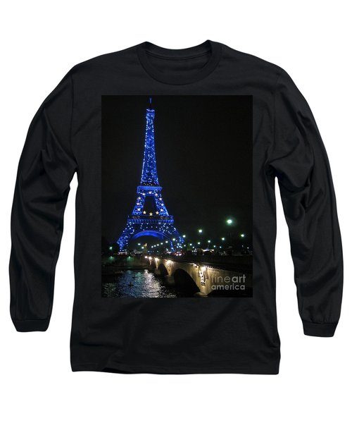 Midnight Blue Long Sleeve T-Shirt by Suzanne Oesterling