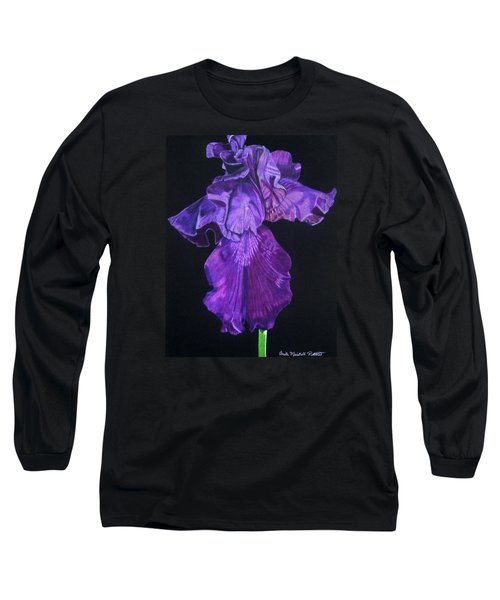 Midnight Iris Long Sleeve T-Shirt