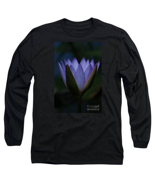 Midnight Water Lily Long Sleeve T-Shirt