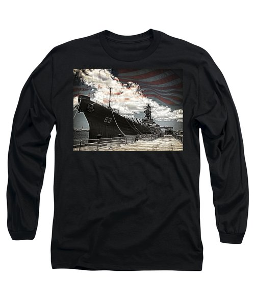 Mighty Mo U.s.s. Missouri Long Sleeve T-Shirt