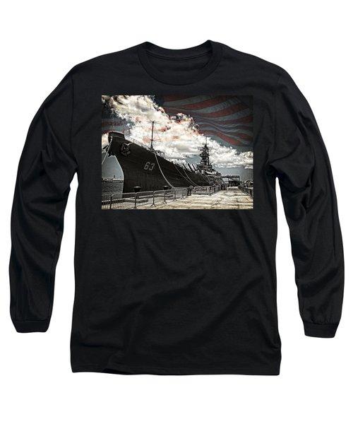 Mighty Mo U.s.s. Missouri Long Sleeve T-Shirt
