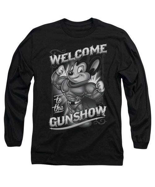Mighty Mouse - Mighty Gunshow Long Sleeve T-Shirt by Brand A