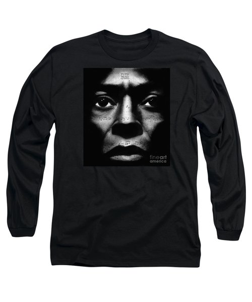 Miles Davis Tutu Long Sleeve T-Shirt by Michael Cross