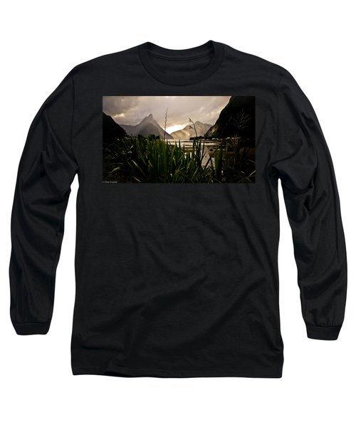 Long Sleeve T-Shirt featuring the photograph Milford Sound by Chris Cousins