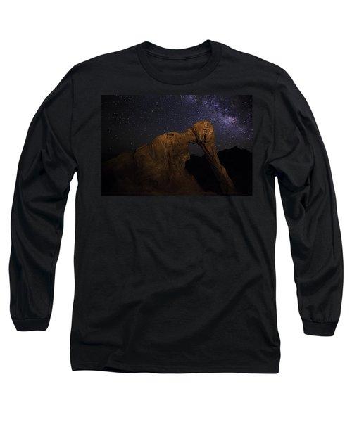 Milky Way Over The Elephant 2 Long Sleeve T-Shirt