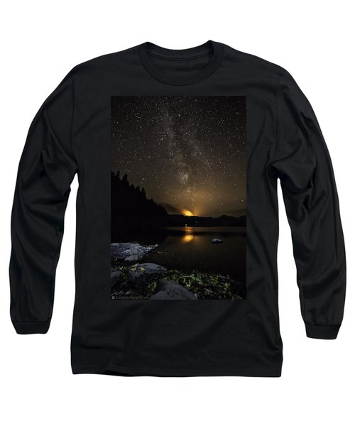 Milky Way At Crafnant Long Sleeve T-Shirt