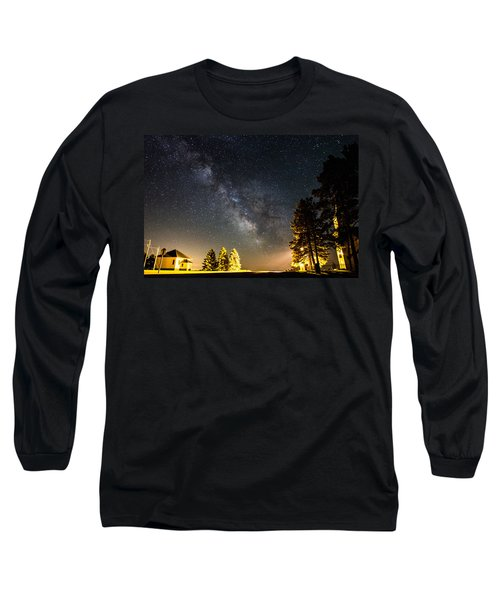 Milky Way From Oldham South Dakota Usa Long Sleeve T-Shirt