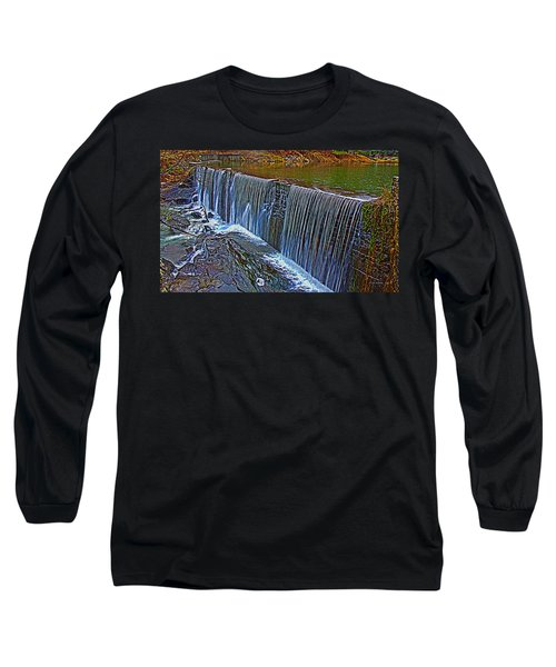 Mill Pond Spillover  Long Sleeve T-Shirt by Tom Culver
