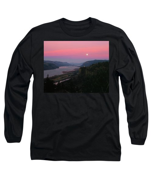 Millenium Moon Over Crown Point Long Sleeve T-Shirt