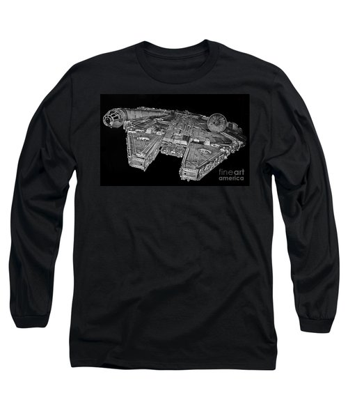 Millennium Falcon Long Sleeve T-Shirt by Kevin Fortier