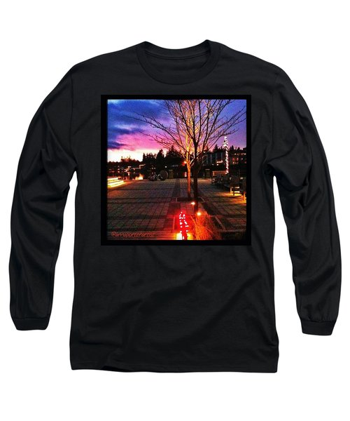 Millennium Park Plaza At Sunset Long Sleeve T-Shirt