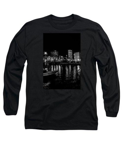 Milwaukee Downtown Third Ward Long Sleeve T-Shirt by Susan  McMenamin