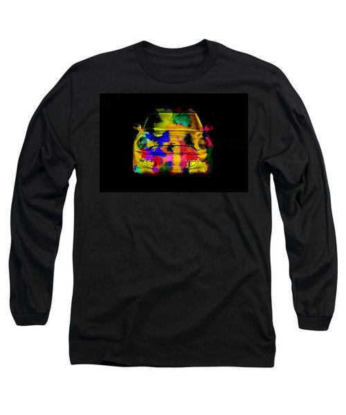 Mini Cooper Colorful Abstract On Black Long Sleeve T-Shirt