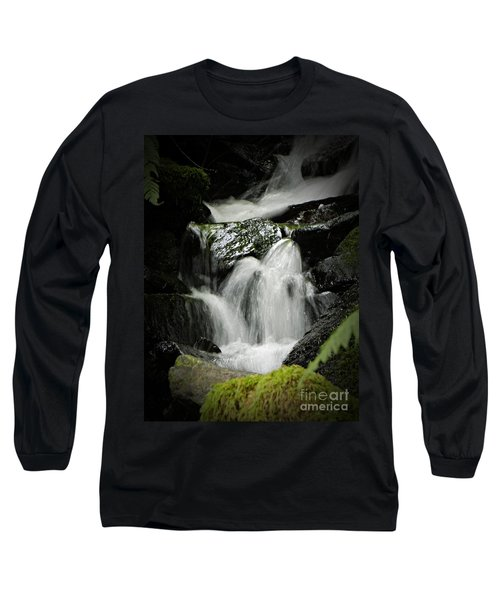 Mini Waterfall 2 Long Sleeve T-Shirt by Chalet Roome-Rigdon