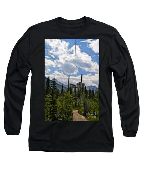 Mining Plant Fractal Long Sleeve T-Shirt
