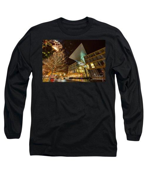 Minneapolis Skyline Photography Central Library Long Sleeve T-Shirt