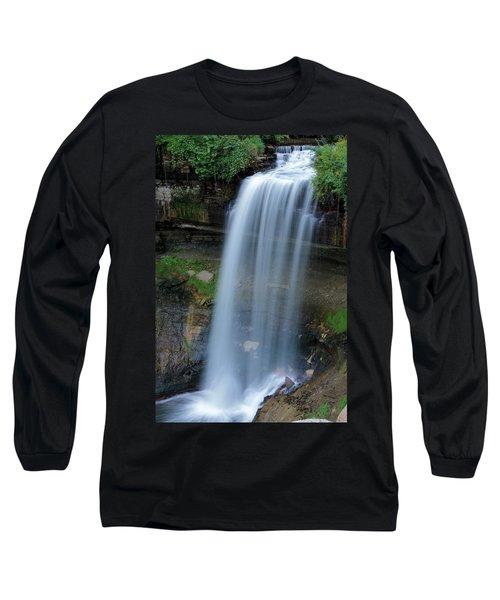 Minnehaha Falls Long Sleeve T-Shirt by Kristin Elmquist