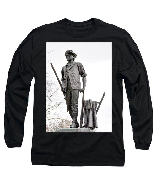 Minute Man Statue Long Sleeve T-Shirt