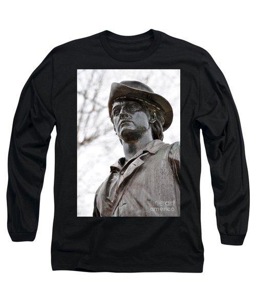 Minute Man Statue 3 Long Sleeve T-Shirt
