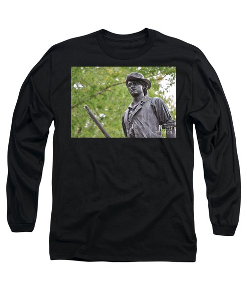 Minute Man Statue In Spring Long Sleeve T-Shirt