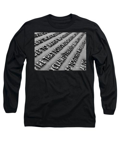Minute Man Statue Plaque Long Sleeve T-Shirt