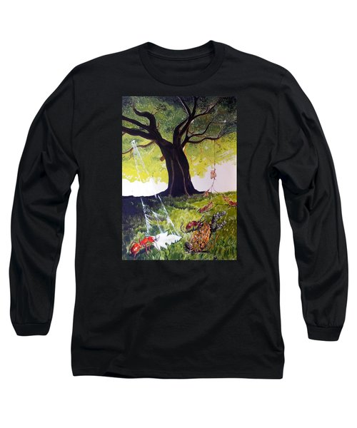 Mirage Of Lives  Long Sleeve T-Shirt by Lazaro Hurtado