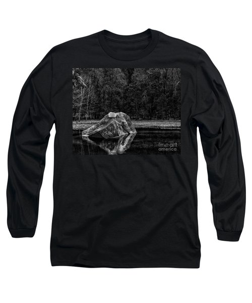 Mirror Lake Boulder Long Sleeve T-Shirt by Terry Garvin