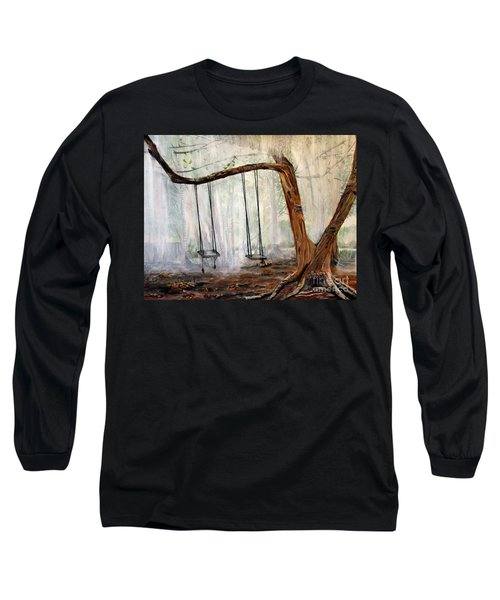Missing Children Long Sleeve T-Shirt by Marilyn  McNish