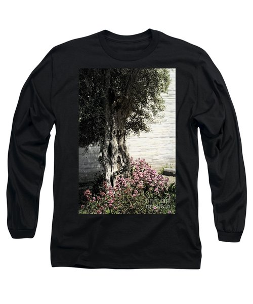 Long Sleeve T-Shirt featuring the photograph Mission San Jose Tree Dedicated To The Ohlones by Ellen Cotton