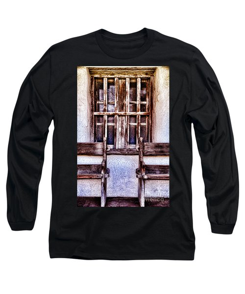 Mission Soledad Window Seating By Diana Sainz Long Sleeve T-Shirt