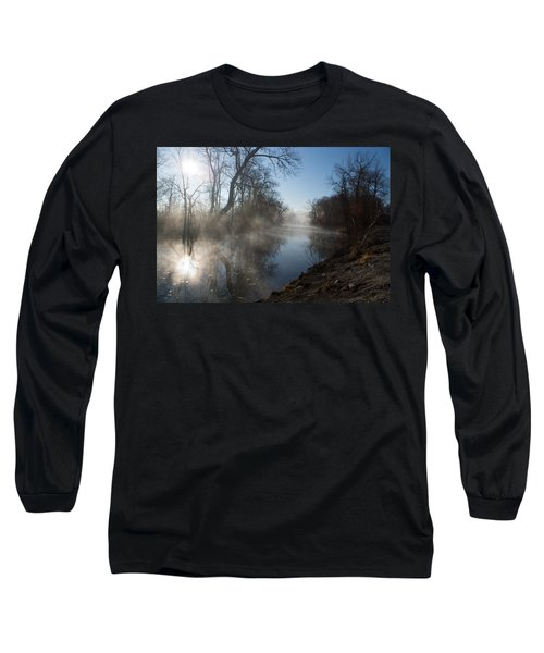 Misty Morning Along James River Long Sleeve T-Shirt by Jennifer White