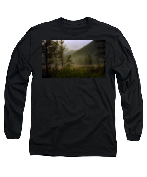 Long Sleeve T-Shirt featuring the photograph Misty Mountain by Ellen Heaverlo