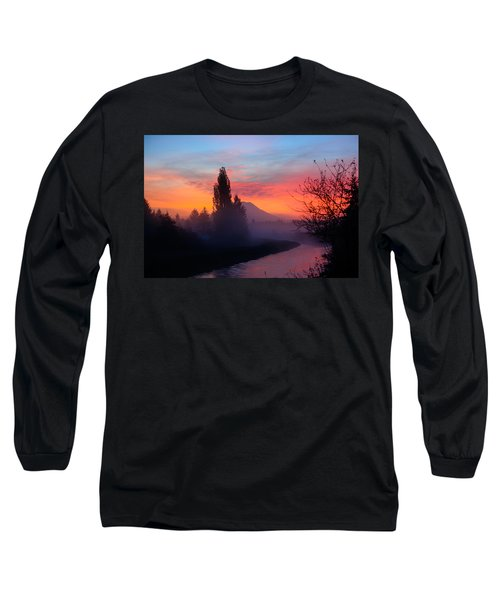 Misty Mountain Morning Long Sleeve T-Shirt