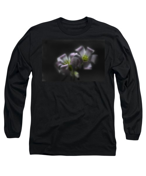 Misty Shamrock 2 Long Sleeve T-Shirt by Susan Capuano