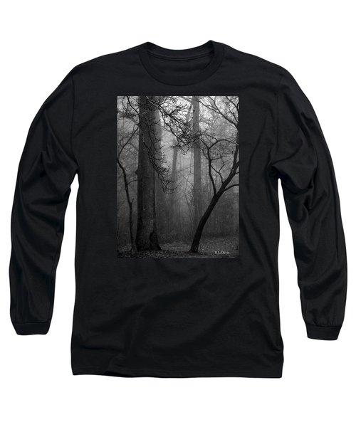 Long Sleeve T-Shirt featuring the photograph Misty Woods by Rebecca Davis